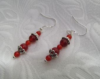 Carnelian beauty earrings