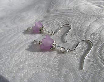 Spring flower earrings lilac