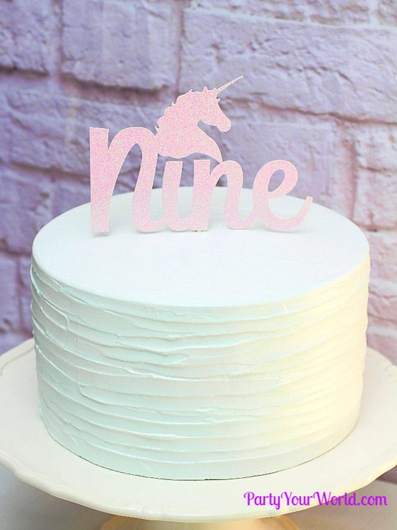 Personalised Custom paillettes cake topper est huitième 8th Anniversaire Garçons Filles
