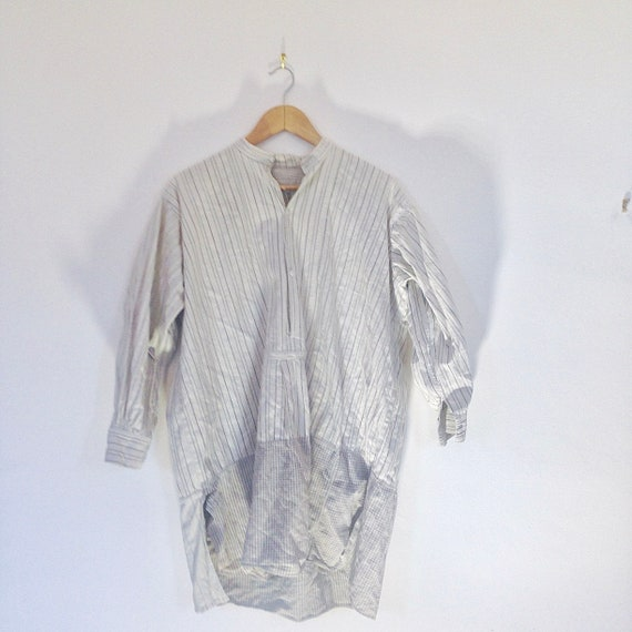 Vintage Workwear French Chore Smock Shirt With Men