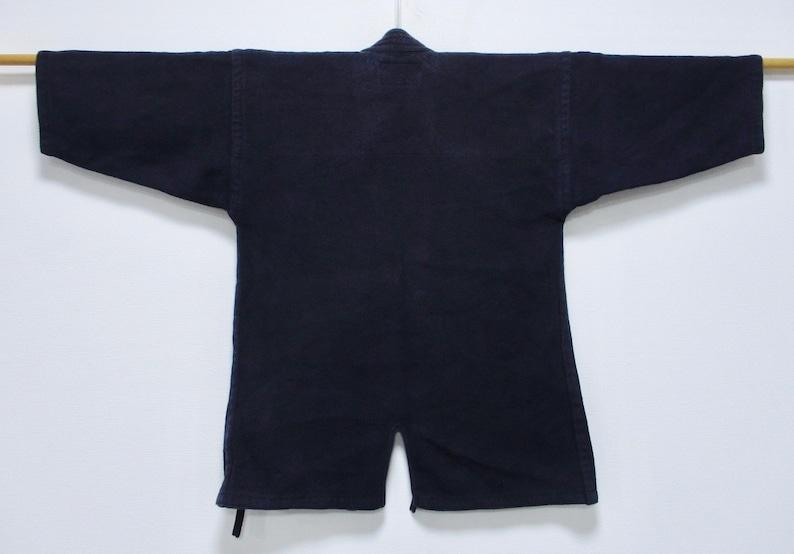 Japanese Kimono Cotton Kendo Swordsman Jacket Japanese Boro Dark Indigo Sashiko