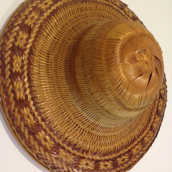 Vintage Bamboo Vietnamese Conical Hat (Coolie, Ric