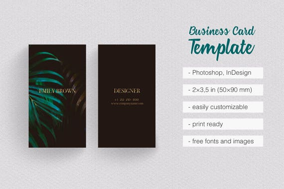 Classy black gold green business card template minimalist reheart Images