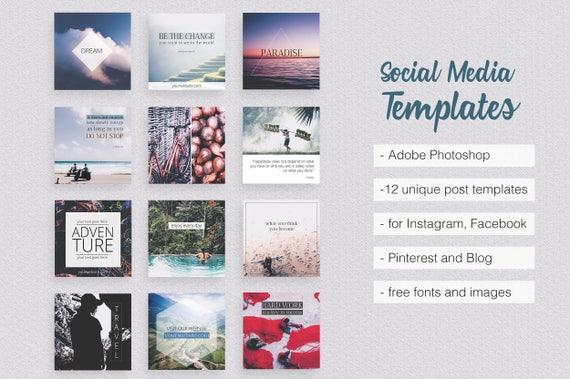 Asian Dream Social Media Templates PART 1 Instagram Facebook