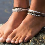 Handmade Braided Macrame Anklets - Various Colours & Beads