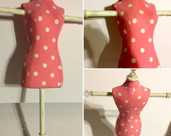 Display Mannequin Doll Clothes Jewelry Stand Tree Polka Dot