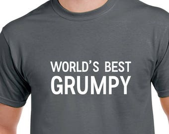 World's Best Grumpy Shirt- Grumpy Tshirt- Grumpy Gift- Grandpa Shirt- Grandpa Gift- Christmas Gift for Grumpy