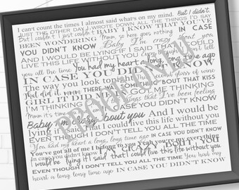Brett young lyrics etsy in case you didnt know by brett young song lyrics wedding song lyrics typography song lyrics song lyrics wall art print at home stopboris Gallery