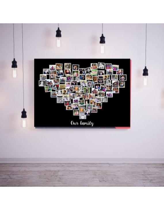 Photo Collage Wall Art Anniversary Gift Birthday Present Etsy