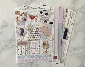 Erin Condren Weekly Sticker Kit - Celebrate