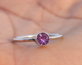 Natural Amethyst Sterling Silver Ring - Beautiful Amethyst Ring - Amethyst Jewelry - Amazing Handmade Amethyst Ring - Gift For Her