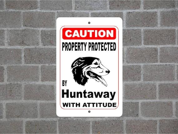 Huntaway  STREET SIGN ~ High Quality Aluminum ~ Dog Lov