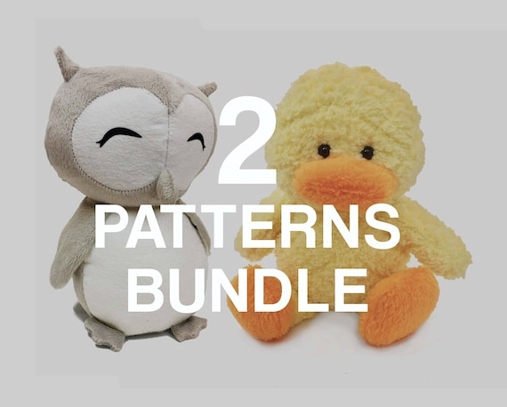 Stuffed Animal Sewing Patterns Owl And Duck Pdf Instant Etsy