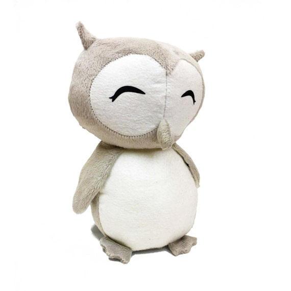 Owl Toy Sewing Pattern Stuffed Animal Pattern Barn Owl Pdf Etsy