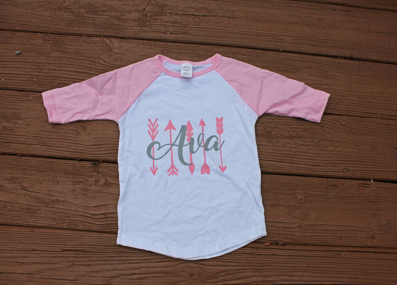 d12cf8ef Girls Monogram Shirt Vinyl Monogram Tee Baby Girl T-Shirt | Etsy
