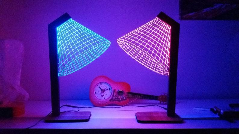 LightLed LampBedroom Light Night personalized Gift Lamp Free ShippingIllusion Acrylic desk DecorModern 3d clF1TKJ