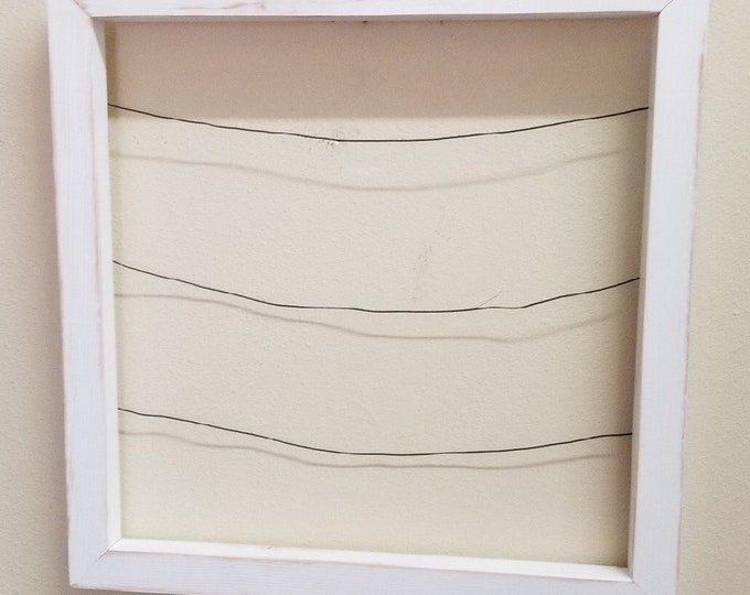 """Framed 20"""" Square Photo Display with 10 mini clothespins"""