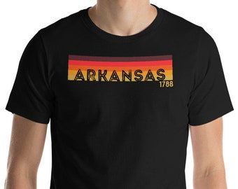 "Retro 1970's Style Arkansas T-Shirt Funny Vintage Gift: ""Retro Arkansas"" 