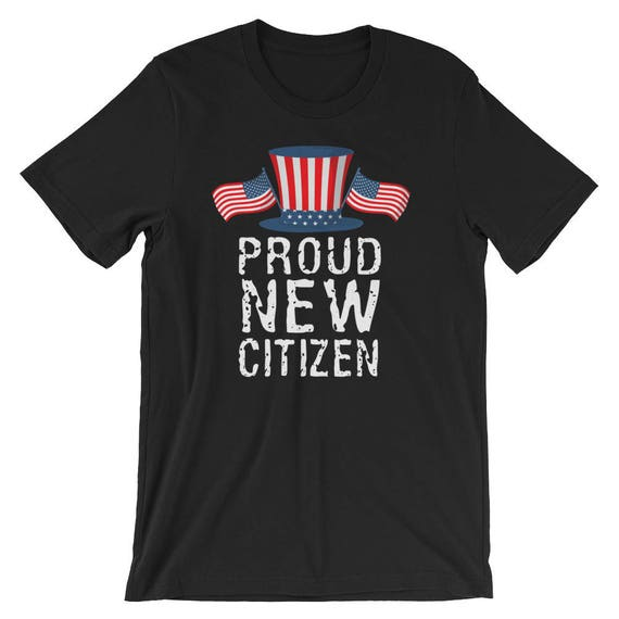Proud New Citizen American Flag Hat Tee Congratulations on  c2fb1505578