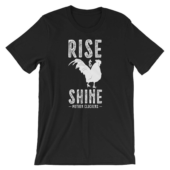 Boys Girls Rise and Shine Mother Cluckers1 Teen Youth Hoodies White S