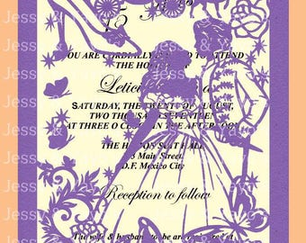 invitation template quinceañera 5 x 7 svg file etsy