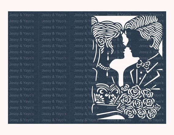 Invitation mariage coupe laser svg etsy - Coupe pour mariage invite ...