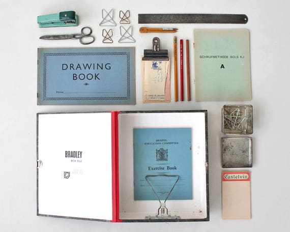 Vintage Office in a Box - Stationery lovers gift box - vintage stationery selection
