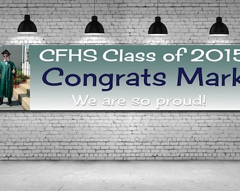 Custom congratulations graduate vinyl banner, Congratulations banner Heavyweight Full color banner custom banner, Graduate Banner