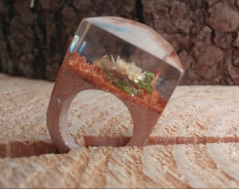 Stunning and unique wood and resin rings