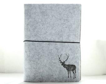 A6/A5 Felt planner binder, planner cover, grey planner cover, notebook, bullet journal, personal planner, A6 planner binder