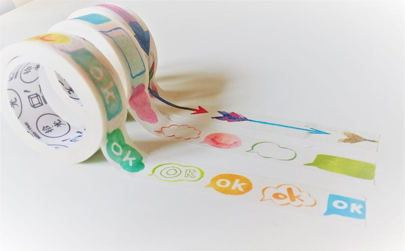 dialog box arrow planner stickers rainbow washi planner accessories ribbon tags Washi tape MT bullet journal