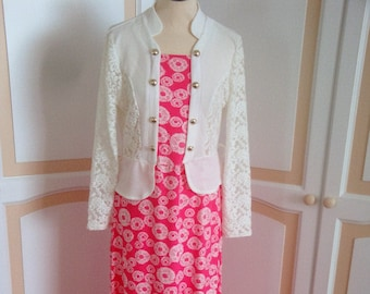 Very Pretty Evening Dress with attached Jacket size 16 uk
