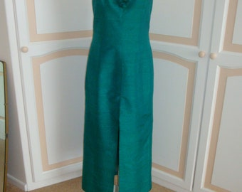 Tessara London Pretty Green Evening Dress size 14 uk 36in bust