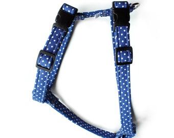 Blue Polka Harness