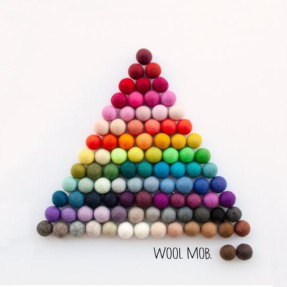 Lot Of 100/% Wool Nursery Felt Balls Choose your Color For Handmade DIY 2cm