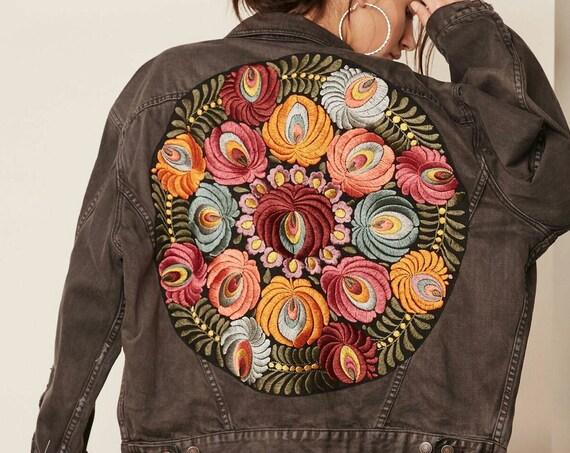 Flower Denim Jacket