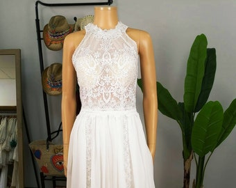 Wedding Boho Dress, Boho Wedding Dress, Wedding Lace Dress, Lace Boho Dress, White Boho Dress, Wedding Dress, Bohemian Lace Dress, Lace.