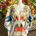 Boho Dress, Bohemian Dress, Mexican Embroidered Dress, Embroidery Dress, Hippie Dress, Long Dress, Maxi Dress, Boho Embroidery Dress.