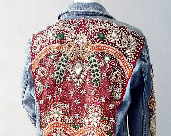 Lehenga Denim Jacket