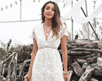 Boho dress, Maxi boho Dress, Maxi Dress, Bohemian Dress, Hippie Dress, White Boho Dress, Boho Hippie Dress, Maxi White Dress. Maxi Boho.