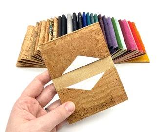 Cork Leather Business Card Holder