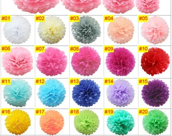 Select your color Tissue Paper Pompoms Wedding Party Decoration Pom Poms Ball wedding party hall decoration venue birthday baby shower engag