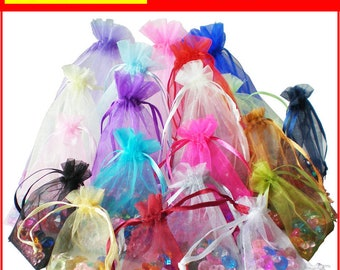 25 LUXURY Organza Gift Bags Jewellery Pouches XMAS Wedding Party Candy Favour celebration function birthday boy girl baby shower decoration