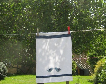Light blue bird Tea Towel