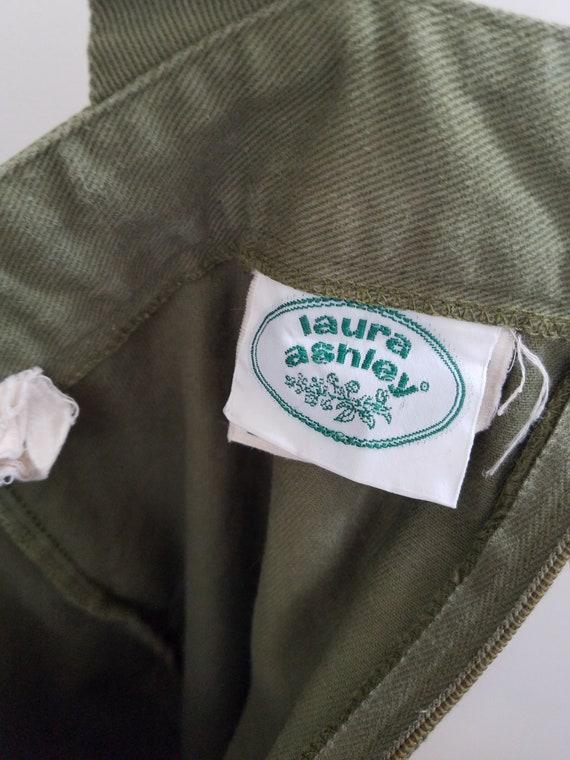 """70s Laura Ashley Pinafore Dress. Small - 26"""" Wais… - image 6"""