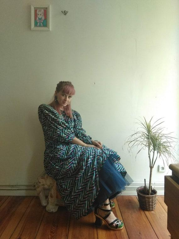 Hardy Amies 80s Evening Dress. Medium. British Cou