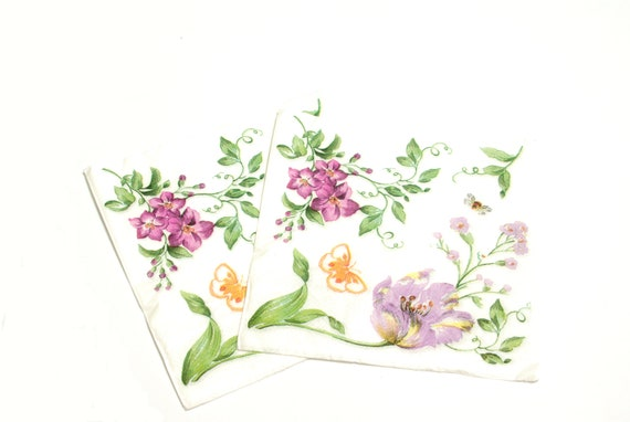 4x Paper Napkins for Party Decoupage Craft Sweat Pea