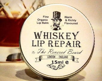Whiskey flavoured Lip Repair by Revered Beard. Premium quality men's lip Balm