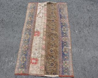 Decorative Vintage Rug Organic Rug,Handmade Rug Turkish Rug Muted Rug 4368 Antique Rug Area Rug Oriental Rug Oushak Rug 8.5x4.4 feet