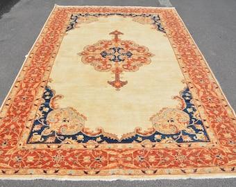 56x124 Inc Red Rug 670 Large Carpet Vintage Rug Decorative Bedroom Rugs Home Decor Rug Handwoven Living Room Rugs Turkish Rug